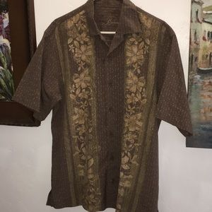 New Tommy Bahama hibiscus Hawaiian shirt L